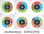 six wheel charts for... | Shutterstock .eps vector #319421942