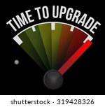 time to upgrade meter sign...   Shutterstock .eps vector #319428326