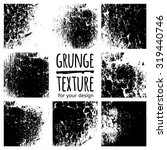 grunge black textures on white... | Shutterstock .eps vector #319440746