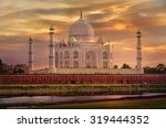 taj mahal in agra  uttar... | Shutterstock . vector #319444352