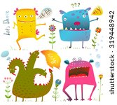 fun cute kind monsters for... | Shutterstock . vector #319448942