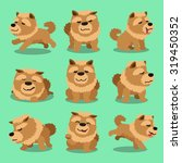 cartoon character chow chow dog ... | Shutterstock .eps vector #319450352