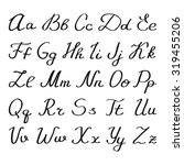 hand sketched english alphabet. ... | Shutterstock .eps vector #319455206