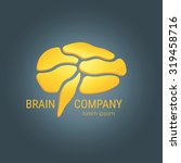 brain logo design vector... | Shutterstock .eps vector #319458716