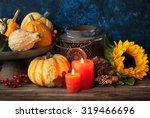 Autumn Thanksgiving Decor With...