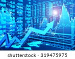 stock market concept and... | Shutterstock . vector #319475975