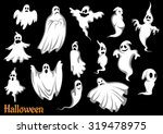 eerie flying halloween ghosts... | Shutterstock .eps vector #319478975