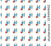 family icon seamless pattern ... | Shutterstock . vector #319494902