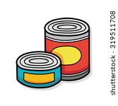 canned food doodle | Shutterstock .eps vector #319511708
