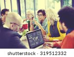 business people meeting seminar ... | Shutterstock . vector #319512332