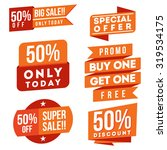 discount and sale ribbons and... | Shutterstock .eps vector #319534175