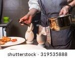 chef in hotel or restaurant... | Shutterstock . vector #319535888