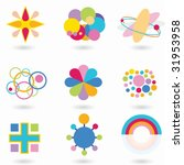 abstract shape set rainbow | Shutterstock .eps vector #31953958