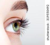 closeup shot of female green... | Shutterstock . vector #319550492