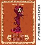 cute card for dia de los...   Shutterstock .eps vector #319553486