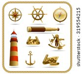 bronze navigation icon set | Shutterstock .eps vector #319554215