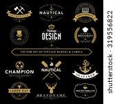 set of vintage  badges and... | Shutterstock .eps vector #319556822