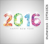 happy new year 2016. colorful... | Shutterstock .eps vector #319561826