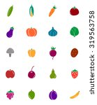 vegetables and fruits glyph... | Shutterstock .eps vector #319563758