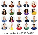 diverse people multi ethnic... | Shutterstock . vector #319566938