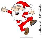 vector illustration of a santa... | Shutterstock .eps vector #319567685