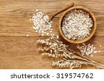 Rolled Oats And Oat Ears Of...