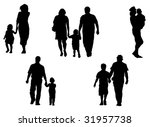 silhouettes of parents and... | Shutterstock . vector #31957738