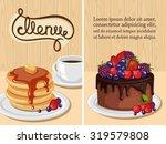 decorative sweets vertical... | Shutterstock .eps vector #319579808