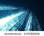 abstract geometric technology... | Shutterstock . vector #319580006