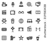 movie black icons set.vector | Shutterstock .eps vector #319583438