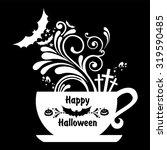 halloween coffee. vector...   Shutterstock .eps vector #319590485