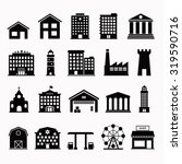building vector set isolated... | Shutterstock .eps vector #319590716