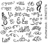 doodles ampersands and... | Shutterstock .eps vector #319607276