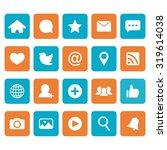 social network icon. social... | Shutterstock .eps vector #319614038