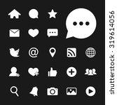 social network icon. social... | Shutterstock .eps vector #319614056