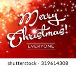 merry christmas card with white ... | Shutterstock . vector #319614308