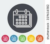 calendar. single flat icon on...   Shutterstock . vector #319616582