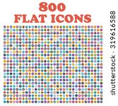 set of 800 flat icons  for web  ... | Shutterstock . vector #319616588