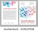 abstract colored brochure... | Shutterstock .eps vector #319619558