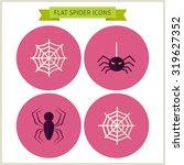 flat scary spider website icons ... | Shutterstock .eps vector #319627352