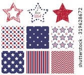 patriotic red  white and blue... | Shutterstock .eps vector #319628672