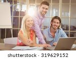 portrait of smiling business... | Shutterstock . vector #319629152
