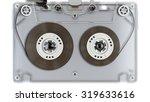 transparent old audio cassette... | Shutterstock . vector #319633616