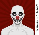 bald scary clown with smiling... | Shutterstock .eps vector #319634852
