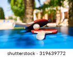 table tennis rackets and ping... | Shutterstock . vector #319639772