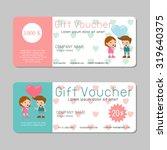 gift voucher template and... | Shutterstock .eps vector #319640375