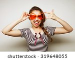 party image. playful young... | Shutterstock . vector #319648055