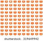 management orange message icons ...