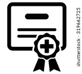 certification vector icon.... | Shutterstock .eps vector #319662725