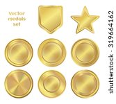 golden medals collection.... | Shutterstock .eps vector #319664162